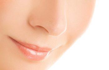 Close-up of a female nose
